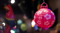 Japanese Lanterns Stock Footage