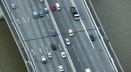 Stock Video Footage of Cars commuting Driving Incoming Outgoing, Aerial View Singapore Highway Freeway