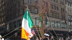 St Patricks Day Irish Flag Ireland - stock footage