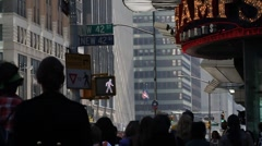 New York City St Crowd Crossing St Stock Footage