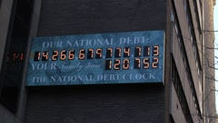 National Debt NYC Sign Stock Footage
