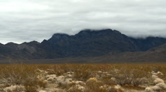 Time Lapse of the Mojave Desert Storm Clouds - Clip 5 Stock Footage