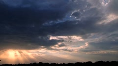 Sunset and Cloud Time Lapse - stock footage