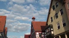 Traditional German Roof & Sky Stock Footage
