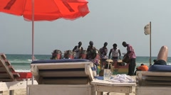 Beach Accra Stock Footage
