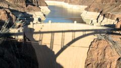 Hoover Dam at Sunset - Time Lapse - Clip 2 of 5 Stock Footage