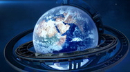3D globe in space Stock Footage