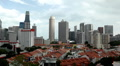 Aerial View of Singapore, Bird Eye View of China Town, Skyscrapers, Holiday HD Footage