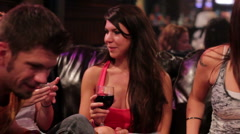 Sexy Women Drinking in Club Stock Footage