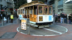 Time lapse of San Francisco Cable Cars - Clip 7 Stock Footage