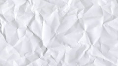 Creased paper animation Stock Footage