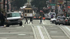 Time lapse of San Francisco Cable Cars - Clip 8 Stock Footage