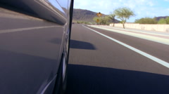 Driving POV low angle V2 - HD Stock Footage
