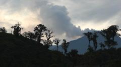 Reventador Volcano erupting Stock Footage