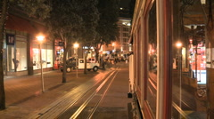 Camera Mounted on Cable Car San Francisco - Clip 1 of 3 Stock Footage