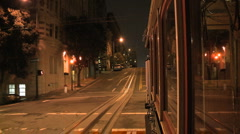 Camera Mounted on Cable Car San Francisco - Clip 3 of 3 Stock Footage