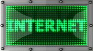 Internet announcement on the LED display Stock Footage