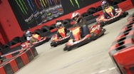Stock Video Footage of Cart Racing