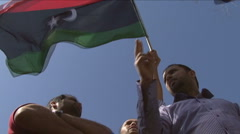 Libyan democracy protesters Stock Footage