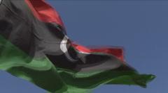 Libyan flag Stock Footage
