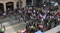 Anti-War protest in Los Angeles Footage