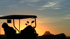 Golf cart at susnet V1 - HD Stock Footage