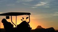 Golf cart at susnet V1 - HD Stock Footage