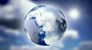 Spinning glass planet Earth Stock Footage