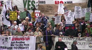 Anti-War protest in Los Angeles Stock Footage