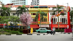 The Streets of Singapore, Chinese New Year in China Town, Traditional Holiday Stock Footage