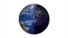 Earth Rotate Loop 2062 Stock Footage