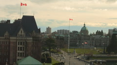 BC Legislature, Empress Hotel Inner Harbor Time Lapse - stock footage