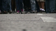 Protest / Marching feet Stock Footage