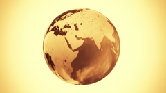 Spinning Globe on sepia background Stock Footage