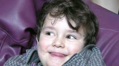 Portrait of a little boy Stock Footage