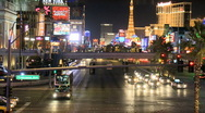 Time Lapse of the Las Vegas Strip - Clip 3 Stock Footage