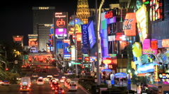 Stock Video Footage of Time Lapse of the Las Vegas Strip - Clip 2