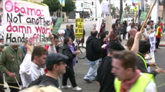 Stock Video Footage of Anti-War protest in Los Angeles