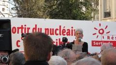 Anti-Nuclear Demonstration N. Schneider, Sortir de Nucleaire Stock Footage