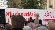 Stock Video Footage of Anti-Nuclear Demonstration N. Schneider, Sortir de Nucleaire