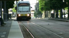 Light Rail  Train Dallas Texas Stock Footage
