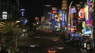 Las Vegas Strip - Time Lapse - Clip 3 of 5 Stock Footage