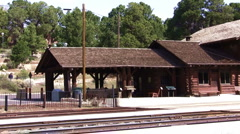 Grand canyon RR station 031 Stock Footage