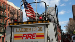 Firebrigade in New York Stock Footage