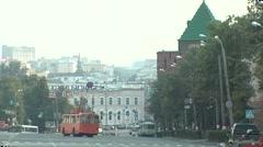 Nizhni Novgorod city driveway summer - stock footage