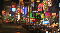 Las Vegas Strip - Time Lapse - Clip 4 of 5 Stock Footage