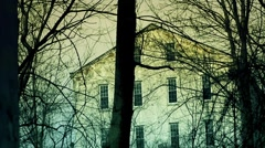 Scary Haunted Building - dolly/tilt Stock Footage
