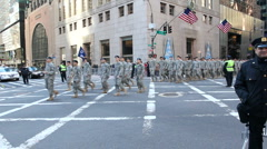 St.Patricks Day Parade in New York 2011 Stock Footage