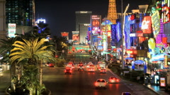 Stock Video Footage of Las Vegas Strip - Time Lapse - Clip 1 of 5