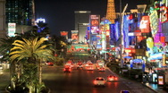 Las Vegas Strip - Time Lapse - Clip 1 of 5 Stock Footage